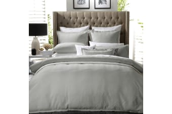 Metro Silver Quilt Cover Set Or Accessories by Private Collection