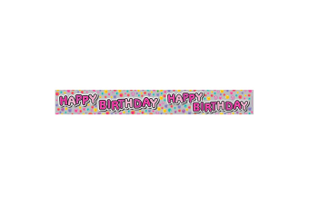 Expression Factory Holographic Female Happy Birthday Foil Party Banner (Multicoloured)