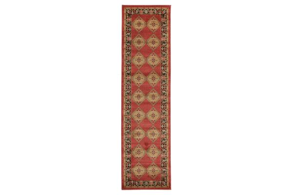 Shiraz Design Rug Red 300x80cm