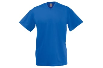 Fruit Of The Loom Mens Valueweight V-Neck  Short Sleeve T-Shirt (Royal) (S)