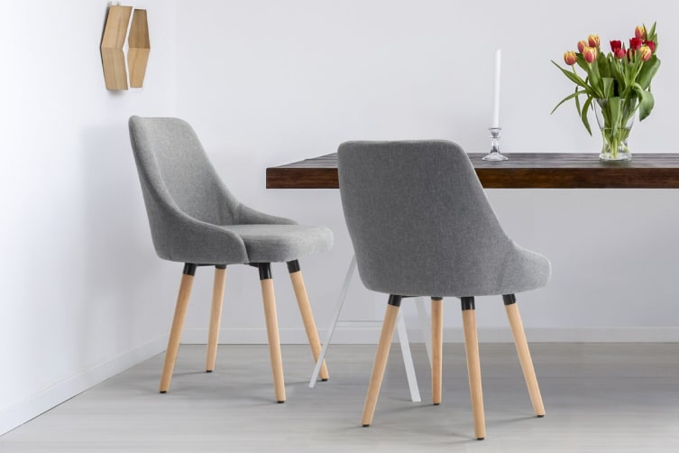Ovela Set of 2 Grete Dining Chairs (Grey)