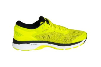 ASICS Men's Gel-Kayano 24 Running Shoe (Sulphur Spring/Black/White, Size 10.5)