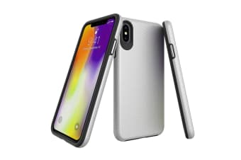 For iPhone XS MAX Case  Armor Silver Slim Shockproof Protective Phone Cover