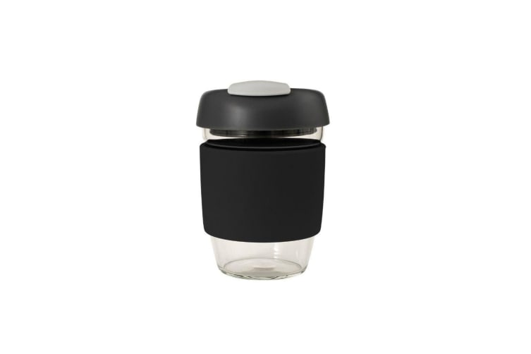 Avanti Glass Go Cup 355ml Black Charcoal Grey
