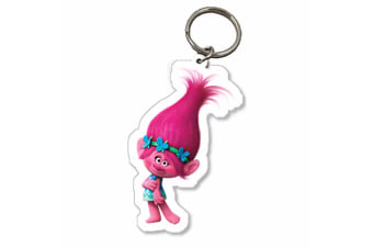 Trolls Childrens/Kids Official Poppy Character Keyring (Pink) (One Size)