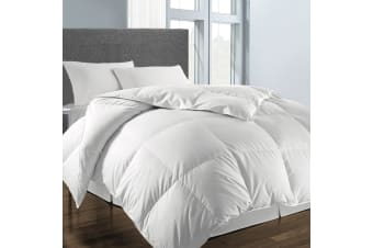 Royal Comfort 500GSM Wool Blend Quilt Premium Hotel Grade with 100% Cotton Cover - Queen - White