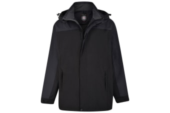Kam Jeanswear Mens Contrast Waterproof Jacket (Black)