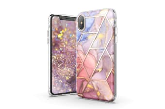 TITSHARK Marble Pattern ShockProof Tough High-quality stylish Case Cover For iPhone XS MAX-Purple