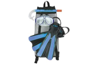 Land & Sea Platypus Snorkel Bag Mask, Snorkel & Fins Set Junior 9-12