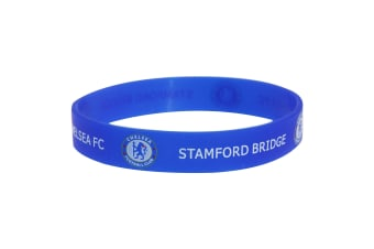 Chelsea FC Official Single Rubber Football Crest Wristband (Blue)