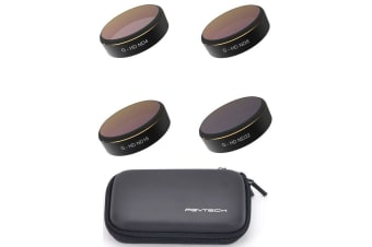 PGY Tech Phantom 4 Pro/Adv Filters 4-pack + Case