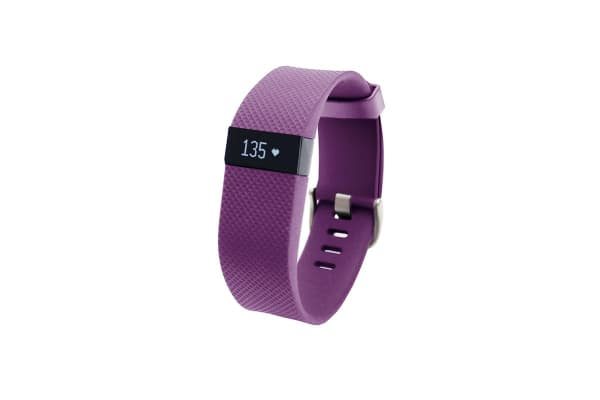 Fitbit Charge HR Heart Rate + Activity Wristband (Large, Plum)