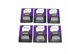 6 x SELF INKING OFFICE STAMPS*Paid/ Copied/Faxed/Posted/Received