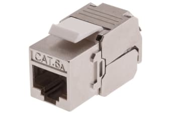 Shielded Cat6A Socket Keystone Keystone Mech RJ45 Cat6