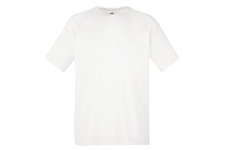 Fruit Of The Loom Mens Performance Sportswear T-Shirt (White) (L)