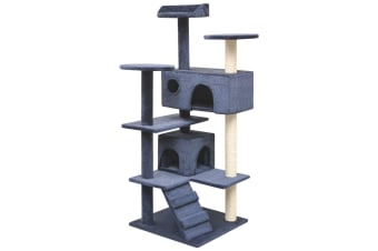 vidaXL Cat Tree with Sisal Scratching Posts 125 cm Dark Blue