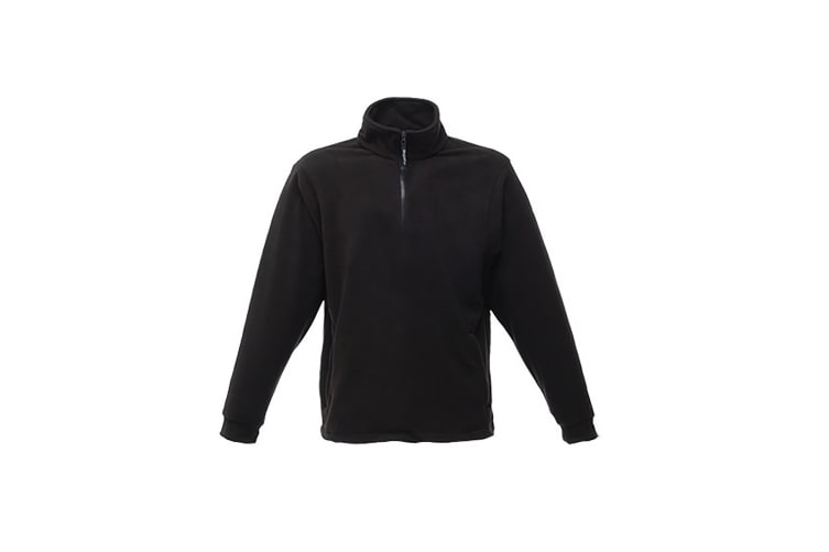 Regatta Great Outdoors Unisex Thor Overhead Half Zip Anti-Pill Fleece Sweater (170 GSM) (Black) (L)