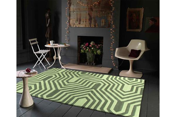 Circuit Board Green Rug 225x155cm