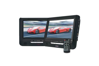 Car DVD Player 9-Inch Dual Screen In-Car Portable - Black
