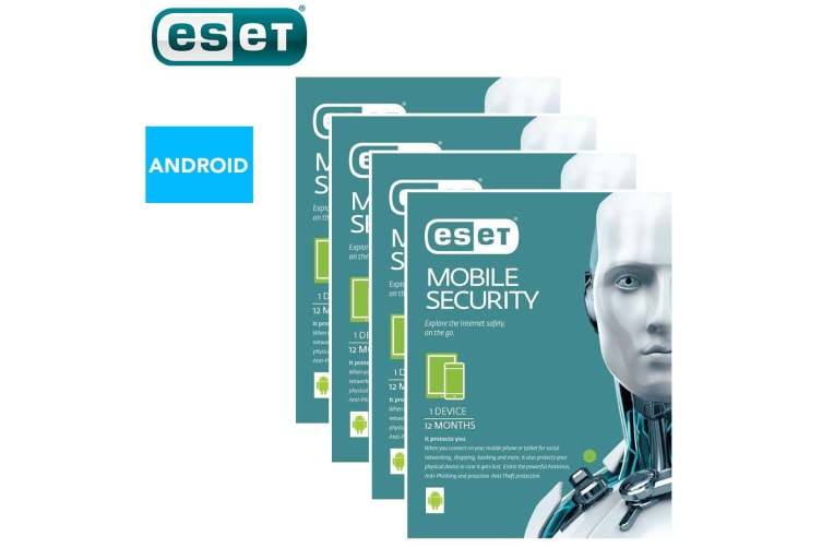 4x ESET Android Mobile Device Security Internet Protection 1yr/Software Download