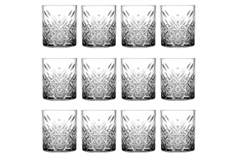 12pc Pasabahce Timeless 345ml Clear Double Old Fashioned Alcohol Whiskey Glasses