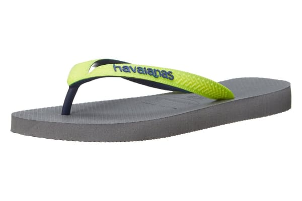 Havaianas Top Mix Thongs (Steel Grey/LED Yellow, Brazil 43/44)