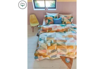 Scrapwood Multi 100% Cotton Quilt Cover Set by Bedding House