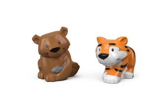 Little People Animal Figure 2 Pack - Tiger and Bear