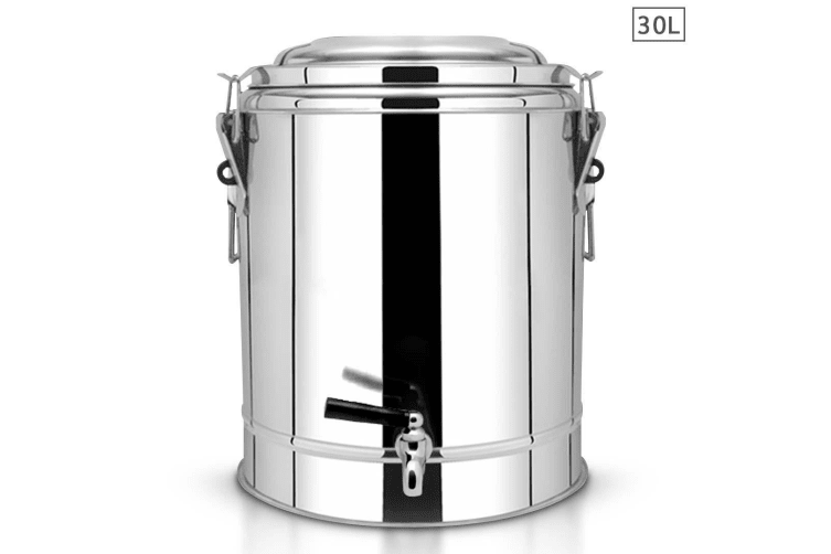 SOGA 30L Stainless Steel Insulated Stock Pot Dispenser Hot & Cold Beverage Container With Tap