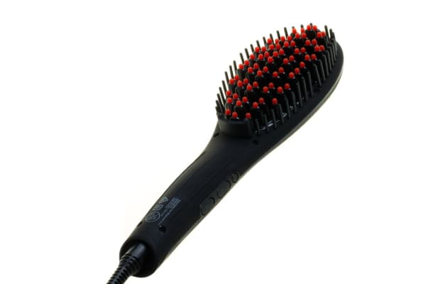 Cabello Glow Hair Straightening Brush (Matte Black)