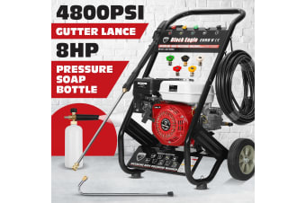NEW Black Eagle 8HP High Pressure Washer 4800PSI Petrol Water Gurney Cleaner
