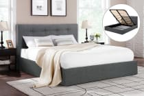 Shangri-La Bed Frame - Portofino Gas Lift Collection (Dark Grey)
