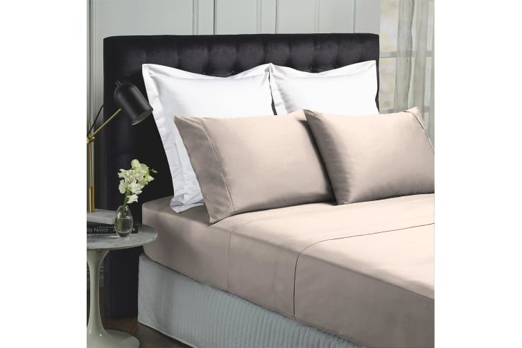 Royal Comfort 1000TC Hotel Grade Bamboo Cotton Sheets Pillowcases Set Ultrasoft - King - Dove
