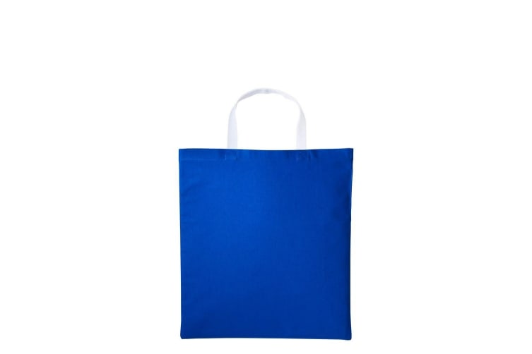Nutshell Varsity Cotton Shopper Short Handle Tote (Royal/White) (One Size)