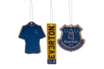 Everton FC Air Fresheners (Pack Of 3) (Blue) (One Size)