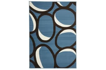 Modern Blue Bubbles Rug