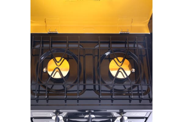 Portable Gas Oven and Stove (Black/Yellow)