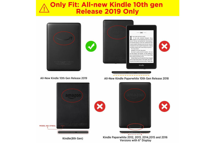 """For Amazon Kindle 2019 10th 6"""" Inch Case Smart Magnetic Flip Leather Slim Cover-Donttouchme"""