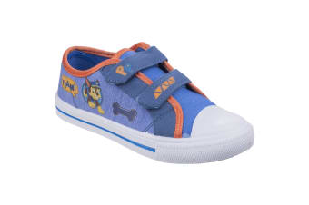Leomil Paw Patrol Childrens/Kids Chase Touch Fastening Canvas Shoes (Blue)