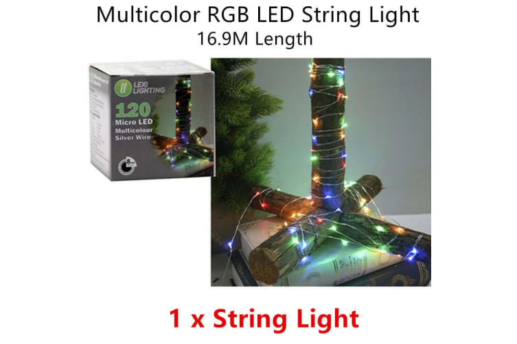 Micro RGB Color Wire LED Timer Lighting Decor Party Christmas Tree Dim Remote
