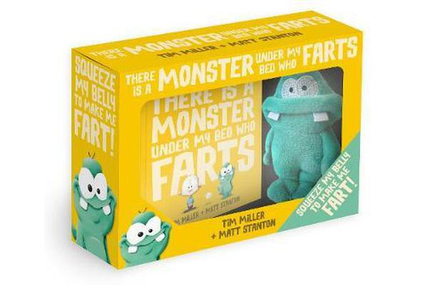 There Is a Monster Under My Bed Who Farts Box Set [With Farting Plush]