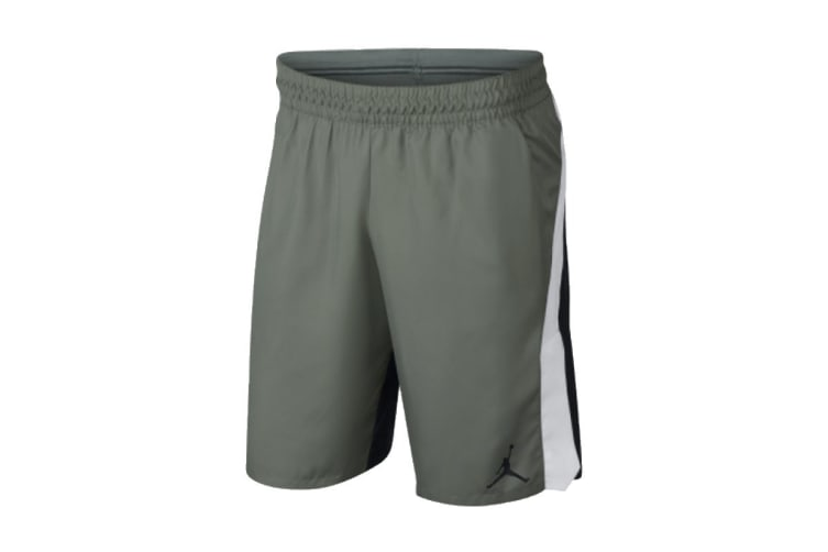 Nike Jordan Alpha Dri-FIT Shorts (Grey/White, Size L)