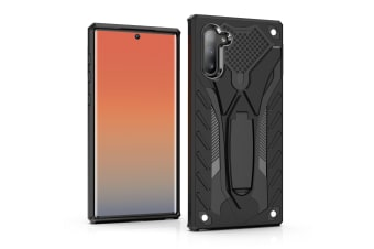 For Samsung Galaxy Note 10 Case Black PC+TPU Plastic Armour Protective Cover
