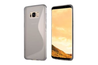 For Samsung Galaxy S8 Case Fashionable Anti-Slip S-Shaped Protective Cover Grey