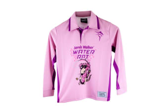 Pink Jarvis Walker Water Rats Kids Long Sleeve Fishing Shirt with Collar-UPF 45+ [Size: 10]