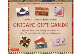 Origami Gift Cards Kit - Beautiful Papers and Folding Instructions for Over 20 Hand-folded Note Cards and Envelopes