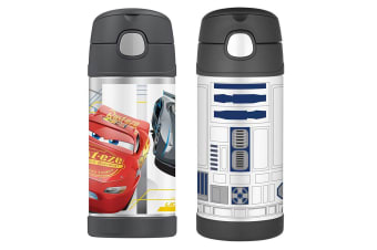 2pc Thermos Funtainer 355ml Insulated Stainless Steel Bottle Star Wars R2D2 Cars
