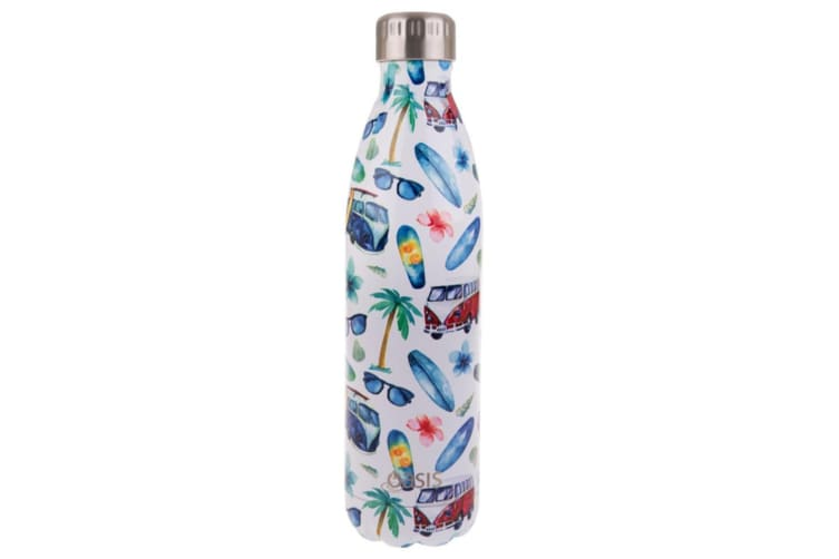 2x Oasis 750ml Double Wall Insulated Drink Water Bottle Vacuum Flask Summer Vibe