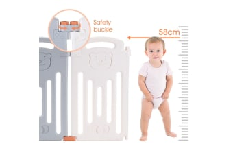 ABST 16 Panel Baby Safety Playpen Interactive Kids Play Center Room - Bear Style