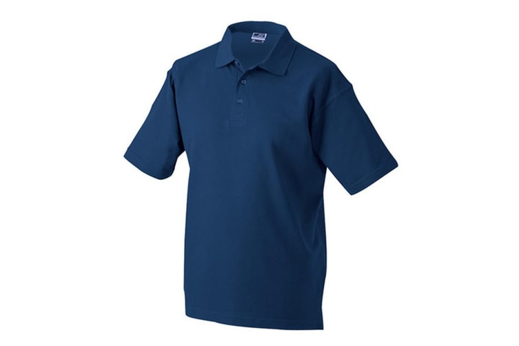 James and Nicholson Unisex Worker Polo Shirt (Navy) (L)